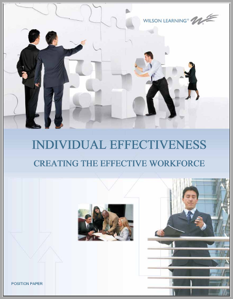 Individual Effectiveness: Creating the Effective Workforce