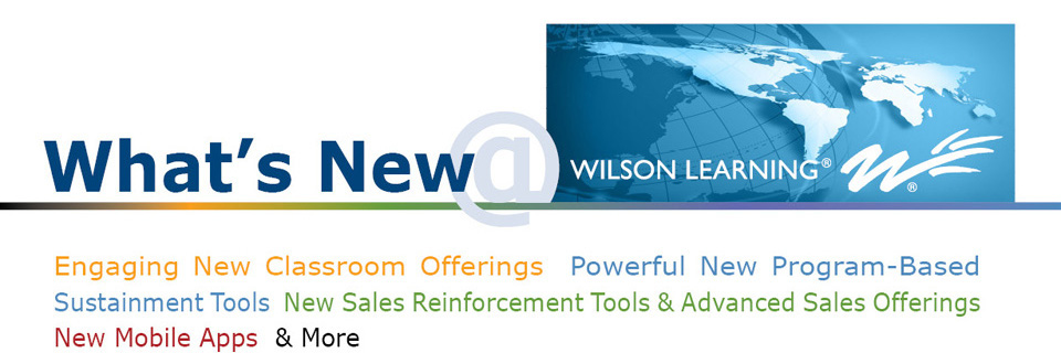 What's New at Wilson Learning