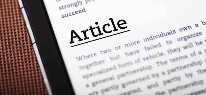 Articles and White-papers